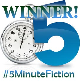 #5MinuteFiction winner's badge