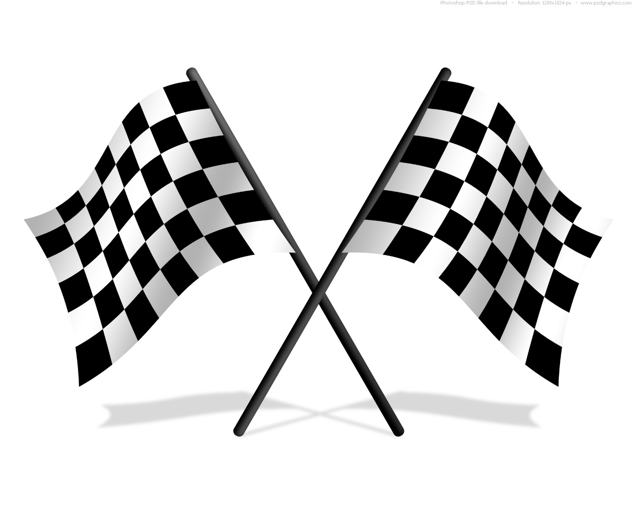 Checkered flags from PSD Graphics